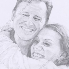 Drawing of opera singers Ryan MacPherson and Anne Sophie Duprels in rehearsals