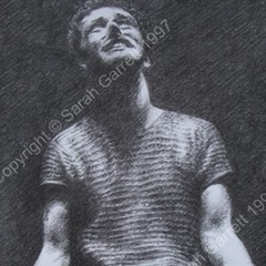 Drawing of Michael Sheen as Henry V at the RSC (detail)
