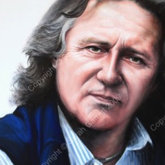 Painting of Stephen Barlow, opera conductor